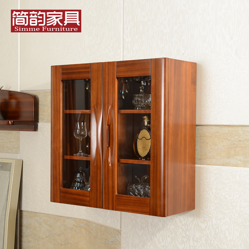 Buy Teak Wood New Chinese Solid Wood Kitchen Cabinets Wall Cabinet