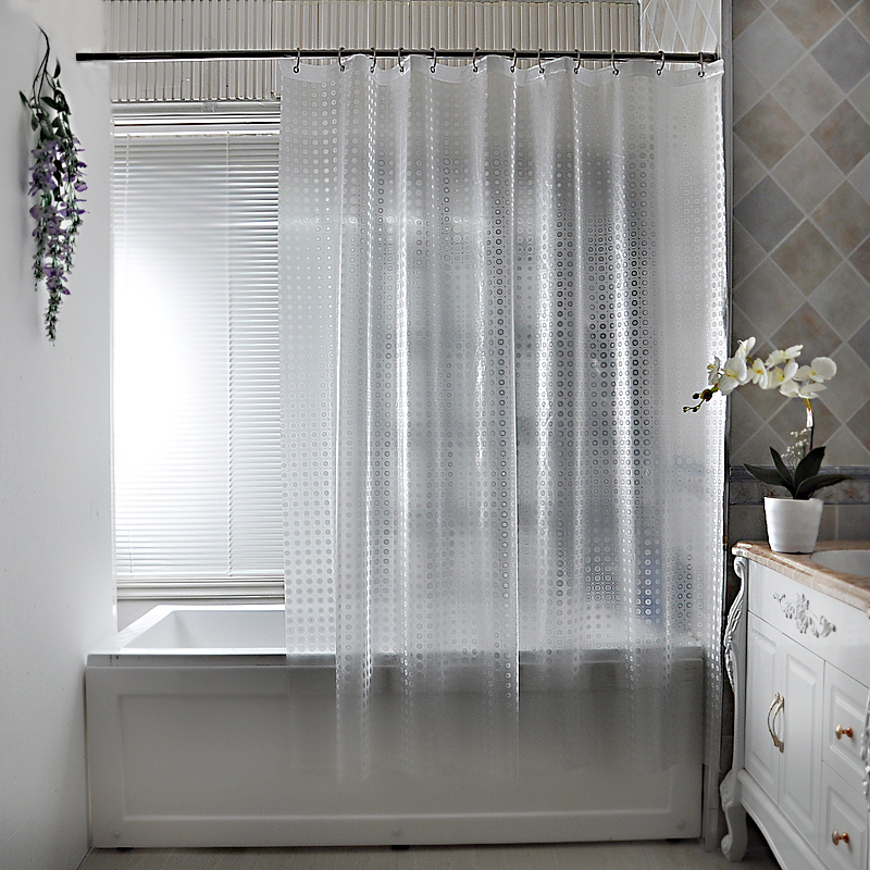 Than Le Waterproof Shower Curtain Mildew Thick Fabric Bathroom