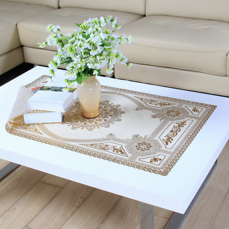 The New Coffee Table Coffee Table Waterproof Tablecloth Tablecloth  Rectangular Pvc Tablecloth Continental Gilt Openwork Coffee Table Doily  Tablecloth Tv ...