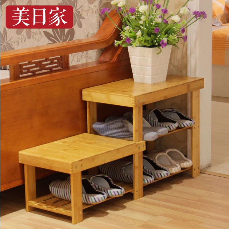 Buy The United States And Japan Home Bamboo Stool Height Huanxie His Shoes  Stool Wood Stool Changing His Shoes Shoe Shoe Storage Stool Stool Specials  In ...