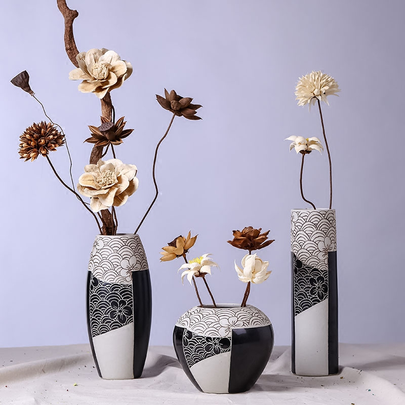 Buy Three Sets Of Jingdezhen Ceramic Vase Modern And Stylish Home