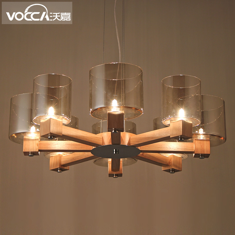 Wojia Chandelier Nordic American Country Wood Rubber Cozy Living Room Bedroom Lamp Restaurant Lights In Price On M Alibaba