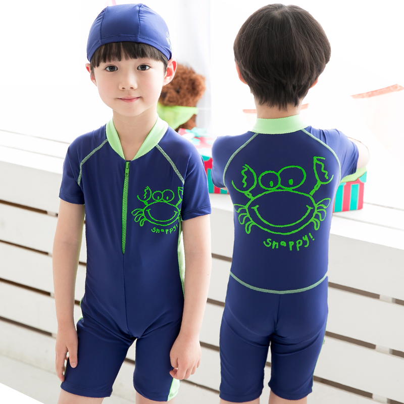 04f1a57cffe19 Buy Woo swim swimsuit children swimwear piece swimsuit boy big boy child  children boys cartoon child swimwear in Cheap Price on m.alibaba.com