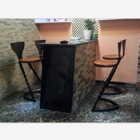 Buy Wrought Iron Casual Cafe Tables And Chairs Solid Wood Conference - Long cafe table