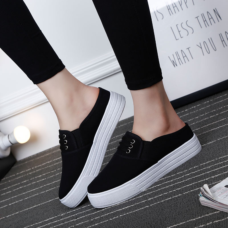 Buy Yap shadow 2016 new trend of white shoes women shoes women shoes women  shoes student shoes fashion shoes flat bottom half root in Cheap Price on  ... f7776eaea