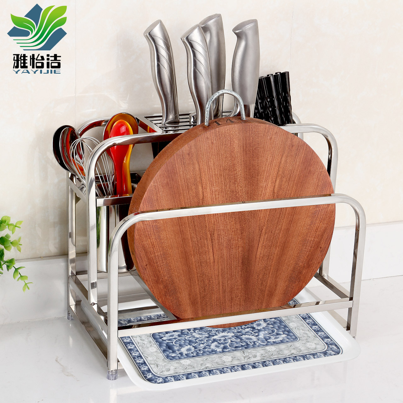 Buy Yi Jie Ya 304 Stainless Steel Kitchen Tool Holder Rack Chopping Block  Cutting Board Rack Kitchen Knife Racks Kitchen Rack Storage Rack Shelving  Aircraft ...