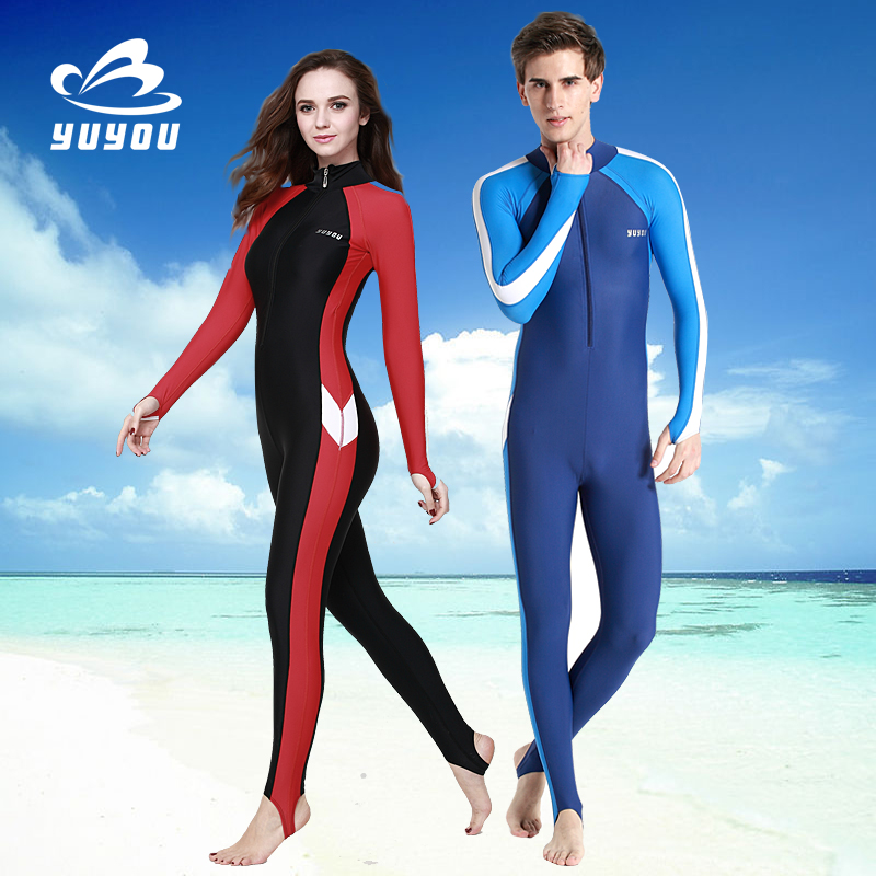 784e7aff20c Flying fish jellyfish clothing snorkeling wetsuit surfing sunscreen swimsuit  split between men and women long sleeve short sleeve length swim trunks ...