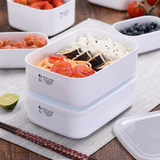 Japanese household microwave oven special lunch box lunch box refrigerator fruit storage box plastic rectangular food box