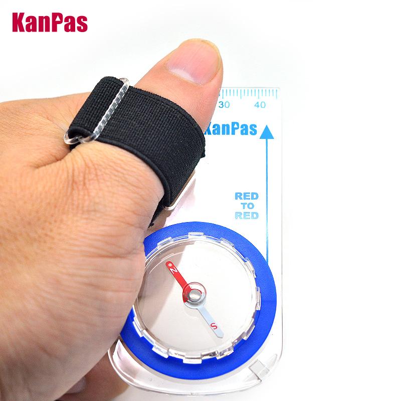 三件包邮 KANPAS定向越野指北针大学生定向越野拇指式指南针地图