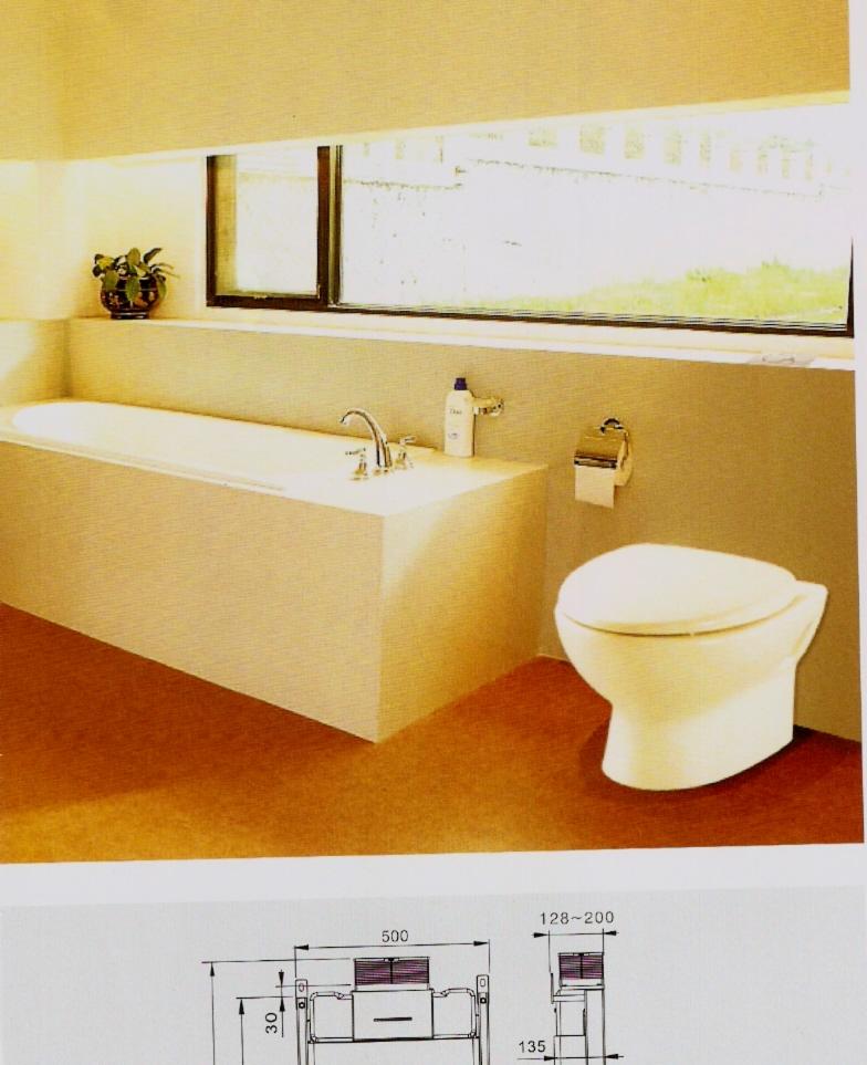 卡地尔水箱隐蔽式水箱挂式座便器冲水箱厕所端便器冲水器暗装水箱