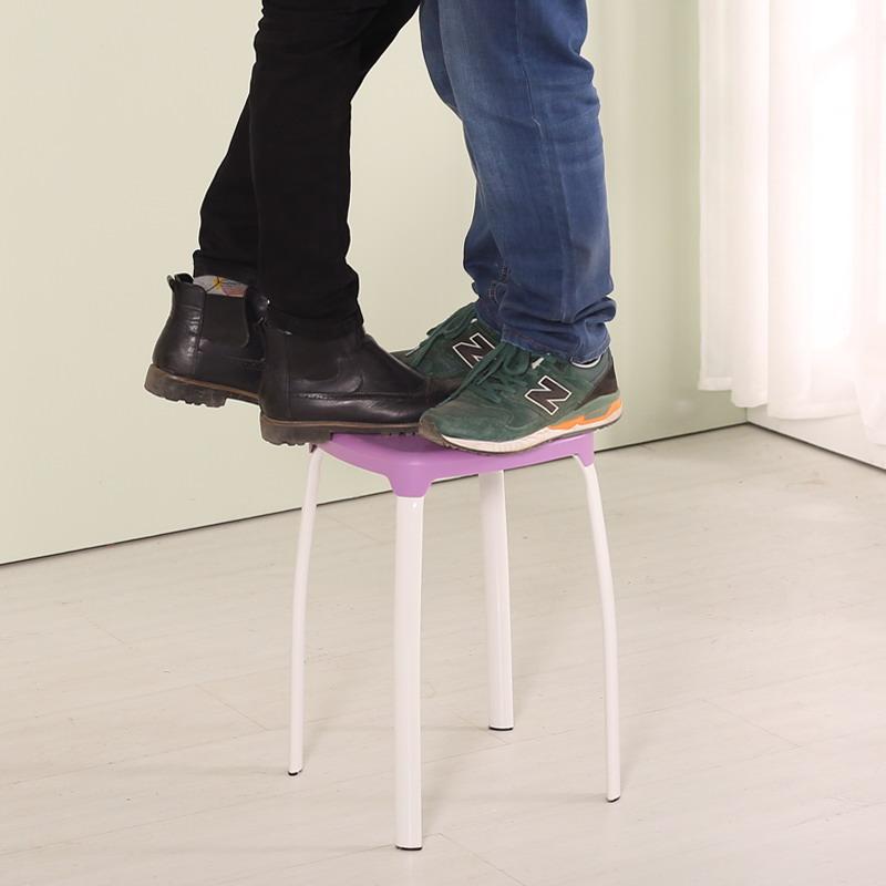 家用塑料方凳子时尚创意高凳加厚彩色板凳简易圆凳餐换鞋凳子椅子