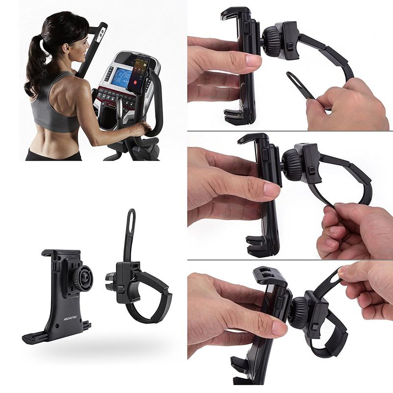 动感单车手机平板通用伸缩支架摩托车iPad绣花健身椭圆跑步机运动