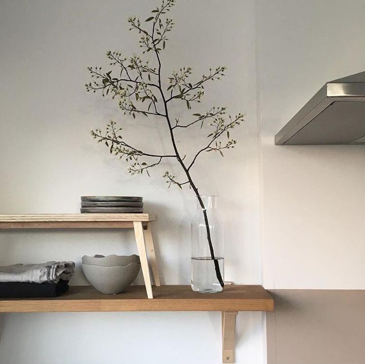 久伴北歐風日系有機玻璃花瓶乾花插花書桌辦公桌梳妝檯裝飾花瓶