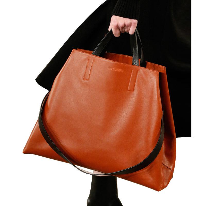 新款潮真皮女包大气时尚百搭大容量单肩斜挎手提包 2020 轻奢大包包