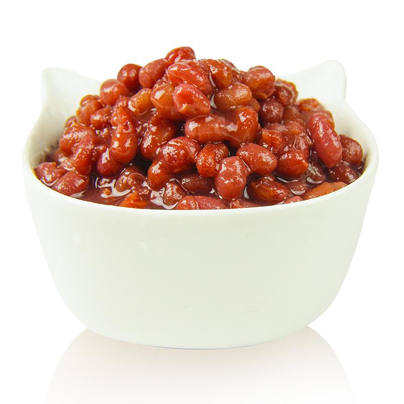 创实 红豆罐头密豆糖纳豆 开罐即食糖水罐头甜品奶茶专用原料930g