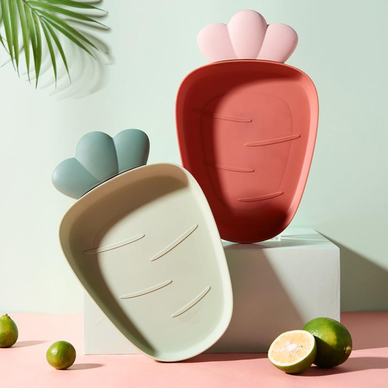 果盘家用水果盘日式客厅创意瓜子干果盘家用茶几零食糖果盘塑料子 - 图3