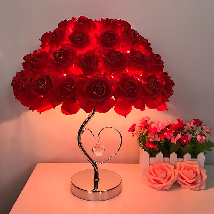 灯欧式玫瑰花结婚礼物