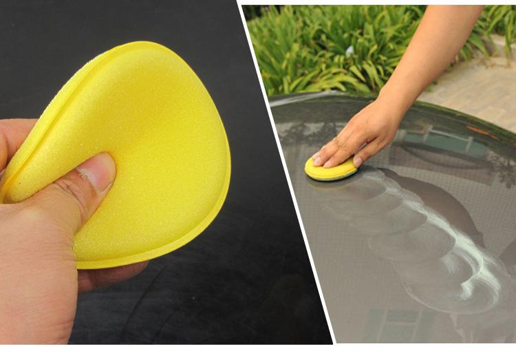 打蜡海绵车用圆形压边洗车上蜡养护抛光海绵汽车纳米打蜡海棉包邮
