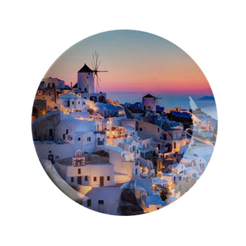6英寸地中海挂盘装饰盘子坐盘陶瓷盘创意家居工艺礼品摆件