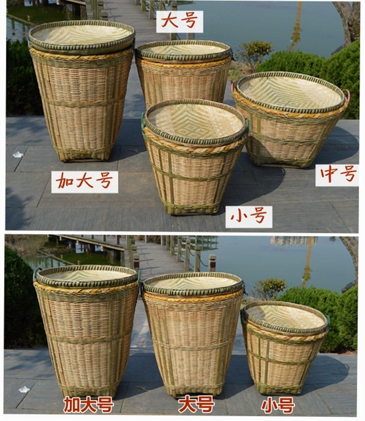包邮手工竹编筐大竹筐篓子超市饭店展示收纳竹篮竹箩筐子植物盆套