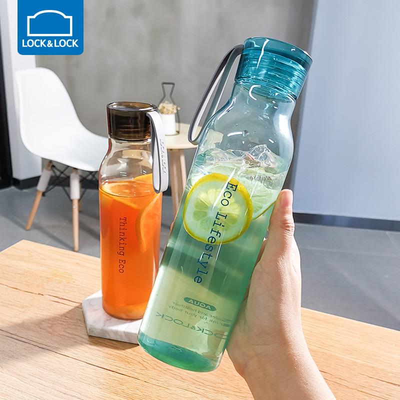 乐扣乐扣水杯便携简约旗舰店运动塑料杯子学生耐高温创意防漏水壶