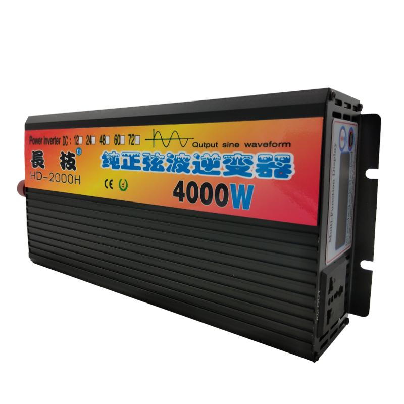 纯正弦波逆变器12V24V48V60V转110V3000W4000W5000W6000W家用车载