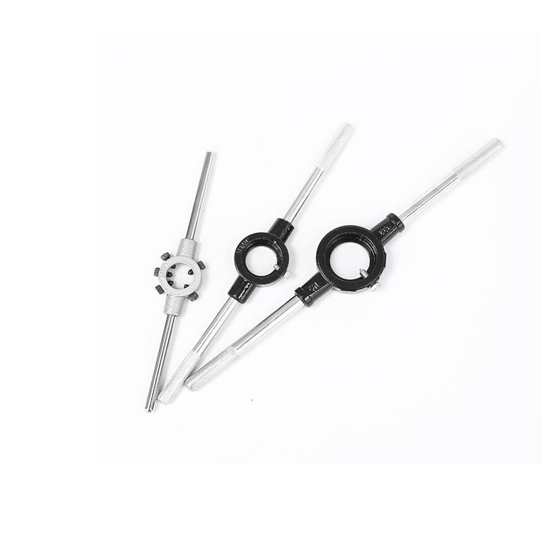 圆板牙扳手铰手 元板牙架扳手套丝扳手 手动套丝工具20mm-65mm