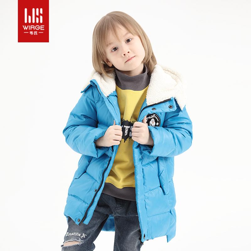 韦氏童装男童羽绒服儿童小童外套卡通动漫白鸭绒连帽外套洋气可爱多图0