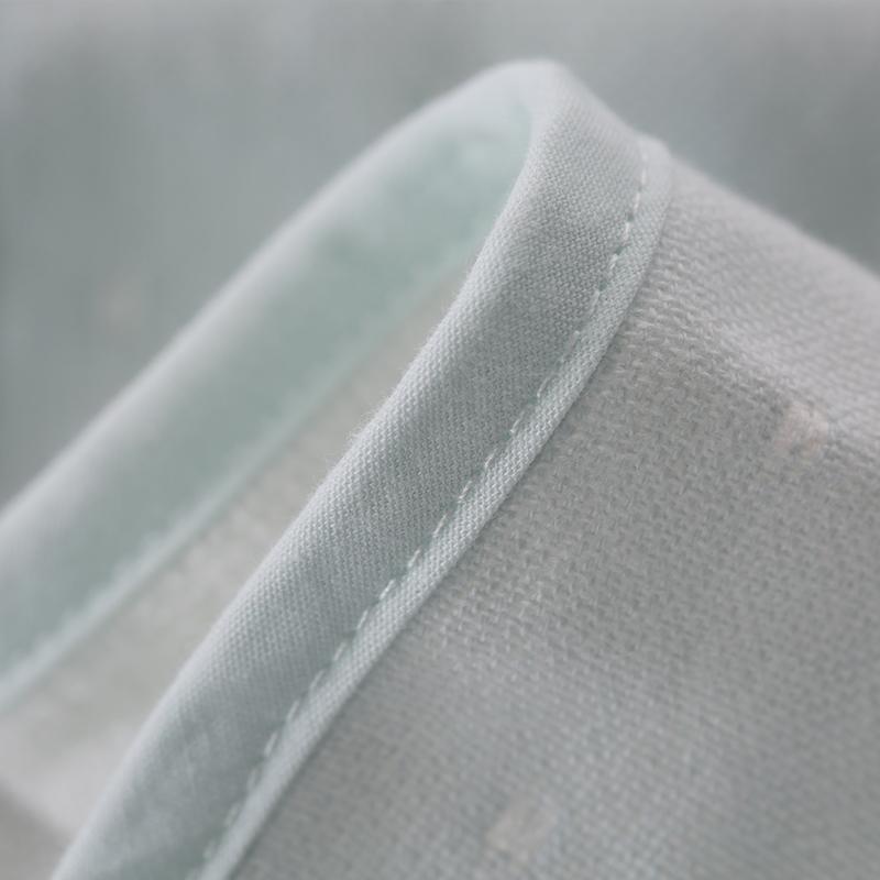 梦洁宝贝儿童抱毯双层纱布提点儿童宝宝睡毯毛毯盖毯毛绒毯床品薄