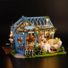 送女生可爱生日礼物,智趣屋diy小屋蔷薇庭园茶屋