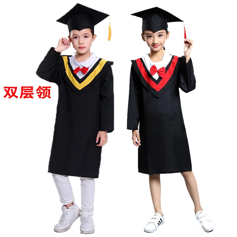儿童博士服幼儿园博士服小学生毕业照服装学士服博士帽毕业礼服帽