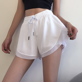Cloud Shell shorts female loose summer quick-drying pants running fitness dance yoga pants waist anti emptied