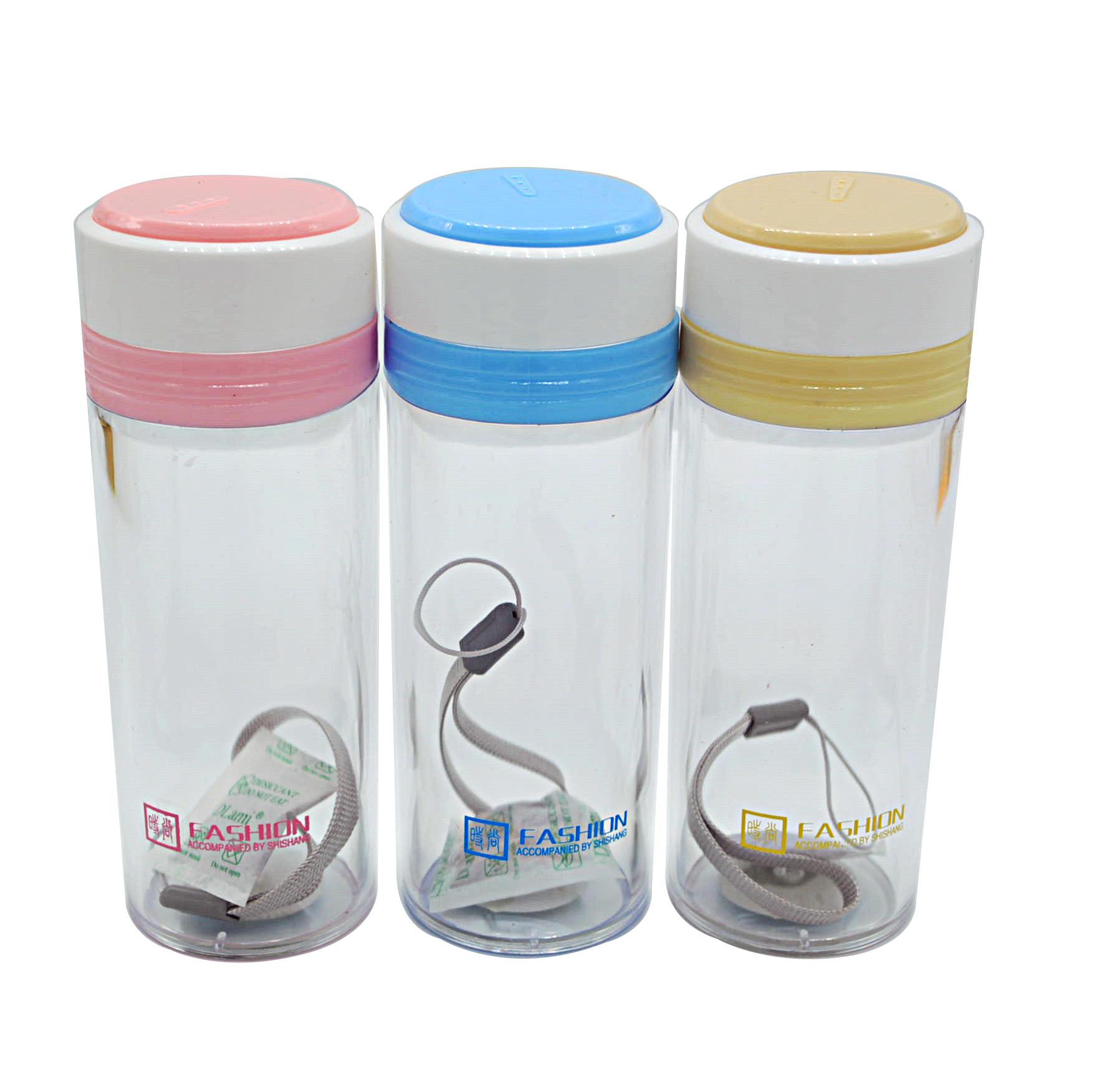 5690 透明塑料口杯 提繩隨手杯 水杯茶杯 飲水杯子 萬輝百貨