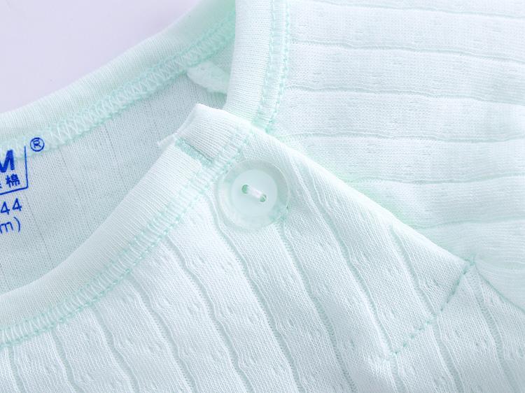 婴儿长袖纯棉提花秋衣夏春季 儿童单件上衣 男女宝宝打底家居衣服