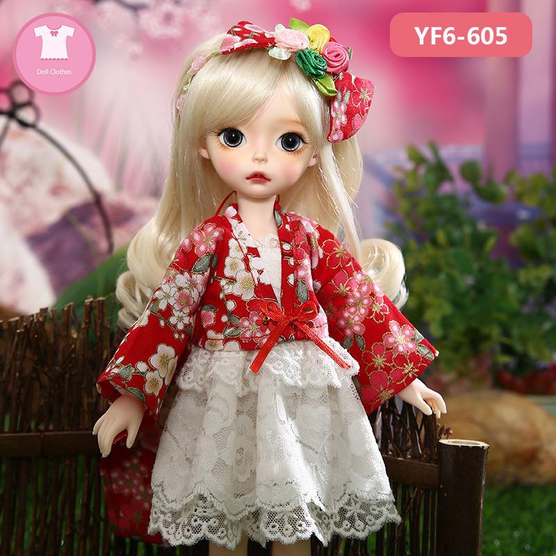 【娃衣】长款传统和服套装衣服 6分bjd娃衣YF6-85 605 606clothes