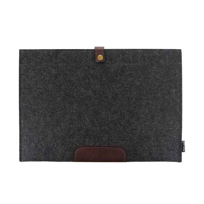 极简毛毡a4文件袋商务文件包资料袋公文袋考试袋文件夹办公用品