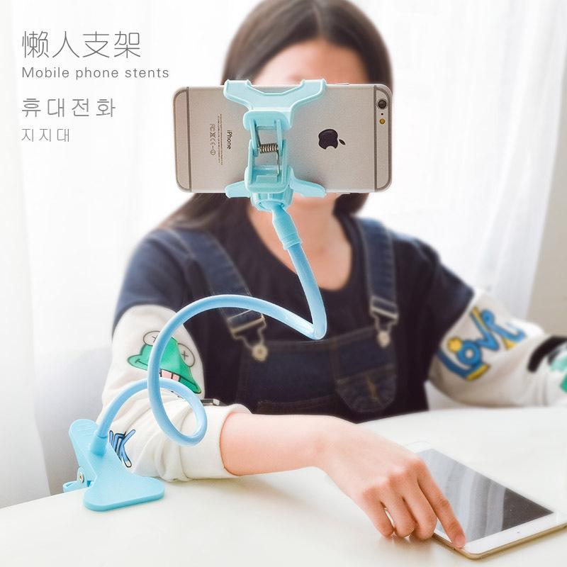 宿舍神器可愛創意可彎曲床頭懶人手機支架 蘋果三星通用手機架子