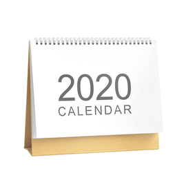 2020年简约台历创意无印桌面记事本农日历日程计划牛皮纸架备忘录