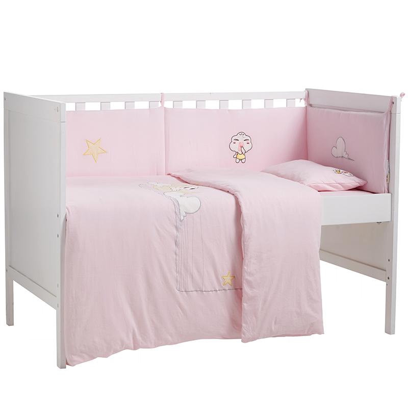 大朴A类婴童针织床笠棉仔儿童床罩床上用品卡通柔软无甲醛床笠