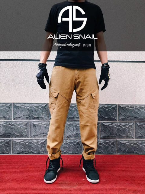 Cotton alien snail's free exercise of locomotive popular brands knee brace denim motorcycle riding pants for men and women Four Seasons