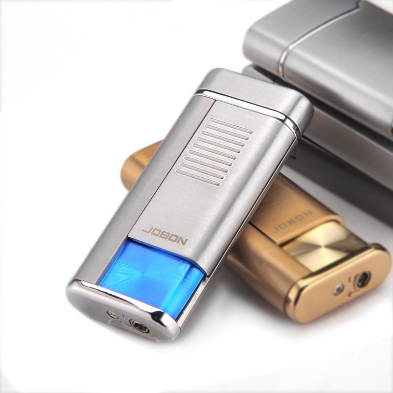 正品中邦个性金属超薄防风直冲可充气体创意男士礼物品打火机烟具