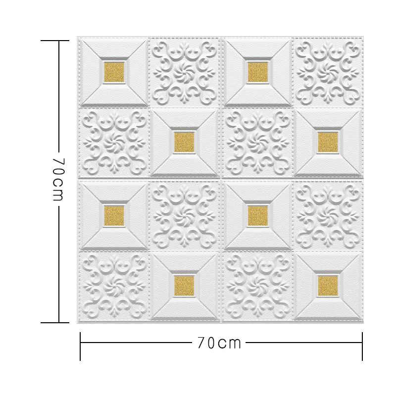 立體臥室廚房裝飾材料護墻 3D 泡沫隔音客廳天花板集成吊頂自粘自裝