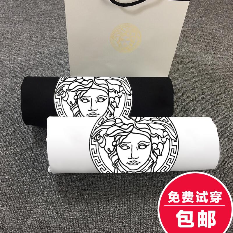 2019情侣装夏季新款男士美杜莎短袖T恤修身韩版半袖体恤大码潮流