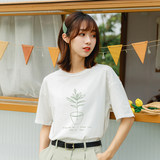 Summer new avocado green short-sleeved T-shirt female Mori student ins Korean version of loose tide cotton shirt wild bf