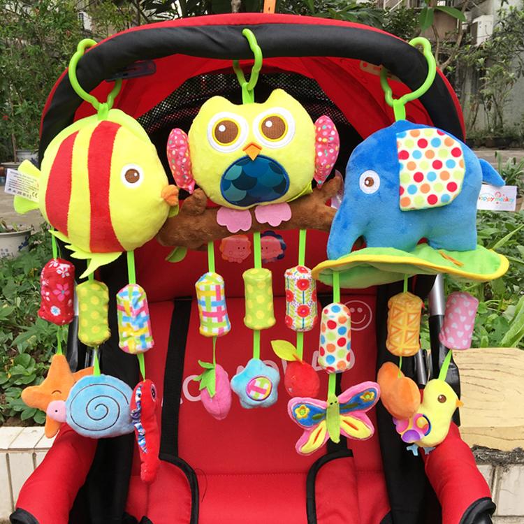 新生婴儿宝宝床铃0-1岁 毛绒益智床绕推车挂件3-6-12个月安抚玩具