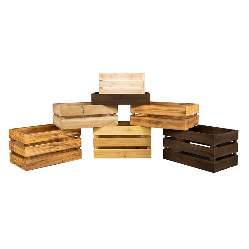 复古储物箱木箱子长方形超市展会橱窗展示箱匠心定制实木收纳箱框
