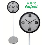 Iron art creative elegant floor clock electronic mute clock American European clock modern living room standing clock bedroom table
