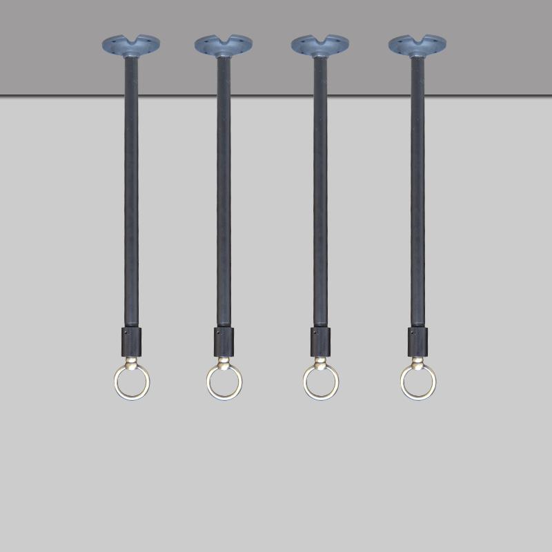 黑色厚重工业风铁艺服装展示吊杆衣服悬挂吊环橱窗展示吊顶吊环