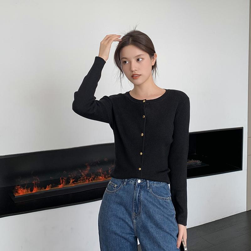 羊毛针织开衫 6 支半精纺美丽诺 45 定染纱线 韩国小姐姐 姐自制 K