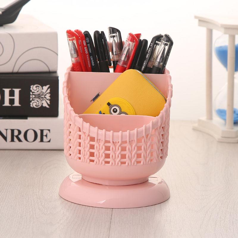 好尔桌面收纳盒小笔筒创意时尚多功能收纳笔座桌面摆件收纳筒学生
